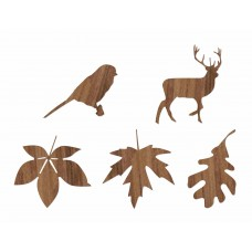 WOOD STICKERS, BIG AUTUMN DESIGN
