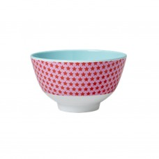 MELAMINE BOWL, RED STAR PRINT (SMALL)