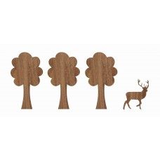 WOOD STICKERS, 'IN THE WOODS' DESIGN