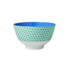 MELAMINE BOWL, BLUE STAR PRINT (SMALL)